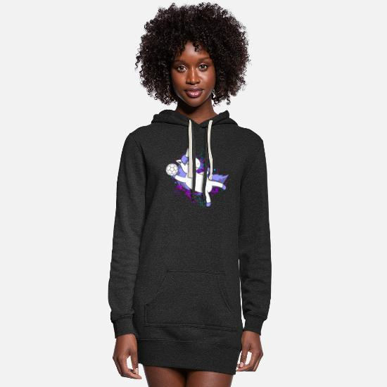 Unicorn Hoodies & Sweatshirts - Handball Handballer Unicorn - Women's Hoodie Dress heather black