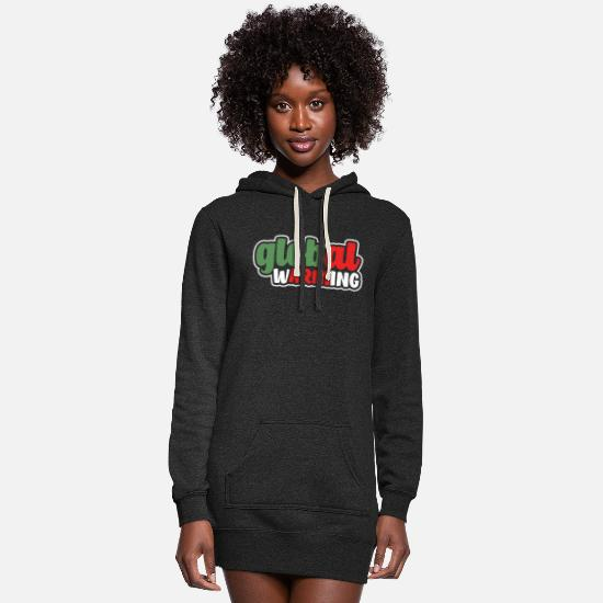 Earth Day Hoodies & Sweatshirts - Global Warming - Women's Hoodie Dress heather black