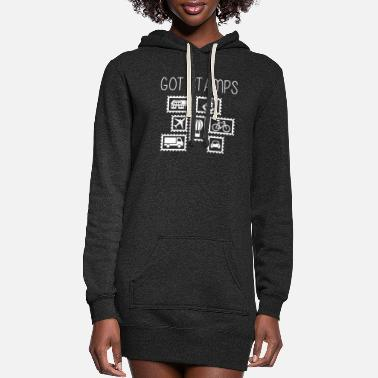 Stamp Stamps? - Women's Hoodie Dress
