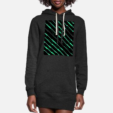 Neon Black neon green pattern neon - Women's Hoodie Dress