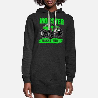 Monster Monster trucks rule - Women's Hoodie Dress