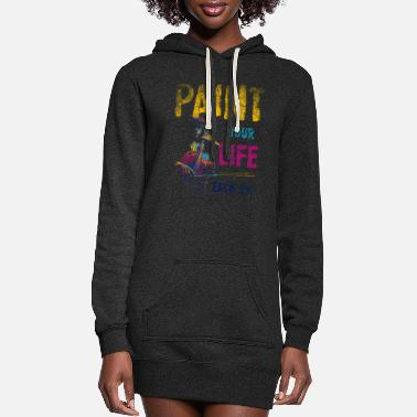 Painting Paint Painting - Women's Hoodie Dress