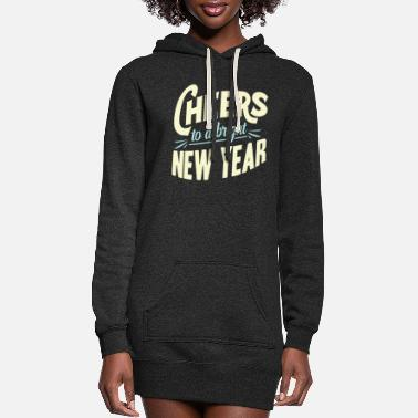 New Year New Year New Year's Eve - Women's Hoodie Dress