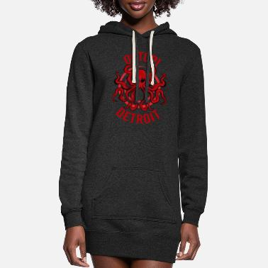 Detroit Octopi Detroit Octopus Kraken Tentacles Michigan - Women's Hoodie Dress