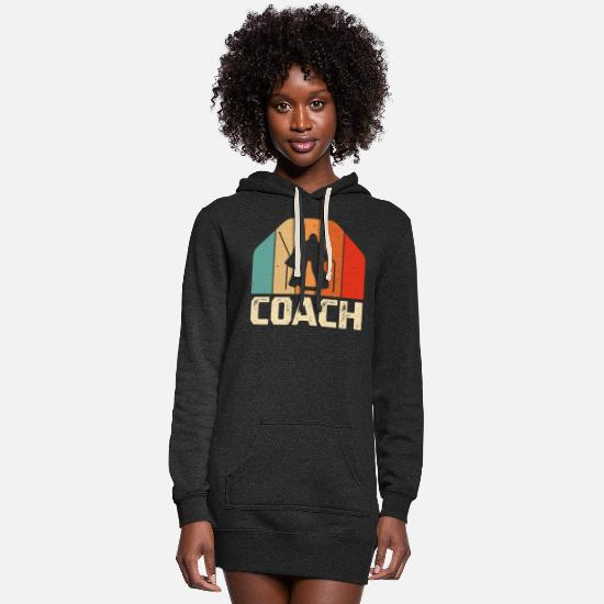 Hockey Hoodies & Sweatshirts - Retro vintage Ice hockey Goalie Coach Gift Shirt - Women's Hoodie Dress heather black