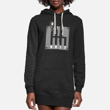 Detroit Detroit City Street Sign Area 313 Michigan State - Women's Hoodie Dress