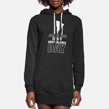 Texas Juneteenth Celebration Black Flag June 19 1865 - Women's Hoodie Dress