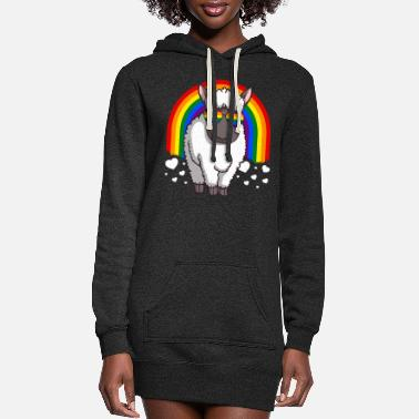 Parade LGBT Sheep Gay Pride Rainbow - Women's Hoodie Dress