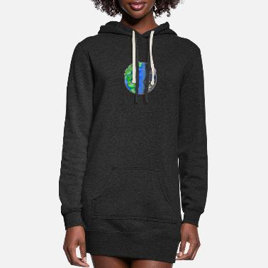 Enviromental Save The Planet Quote Earth Day Motive Climate - Women's Hoodie Dress