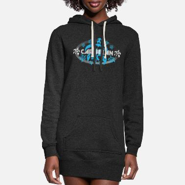 Caribbean TURTLE CARIBBEAN - Women's Hoodie Dress