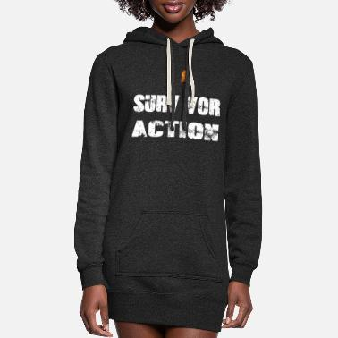 Apocalypse Survivor action with flame - Women's Hoodie Dress