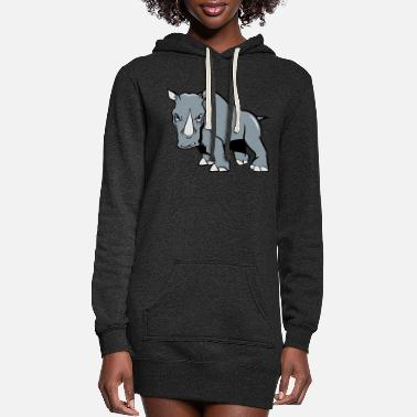 Aggressive Rhino aggressive - Women's Hoodie Dress