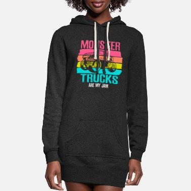 Monster Monster Trucks Are My Jam - Women's Hoodie Dress
