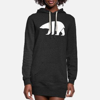 Cold polar bear - Women's Hoodie Dress