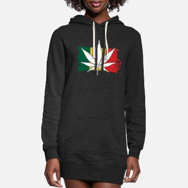 420 Hemp Leaf Cannabis Lover Stoners Birthday Flag - Women's Hoodie Dress