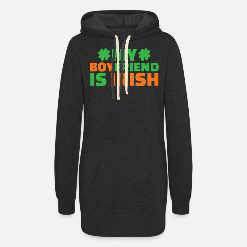 2c285de6 Funny Couple irish shirts for St.patrick's Day Women's Hoodie Dress ...