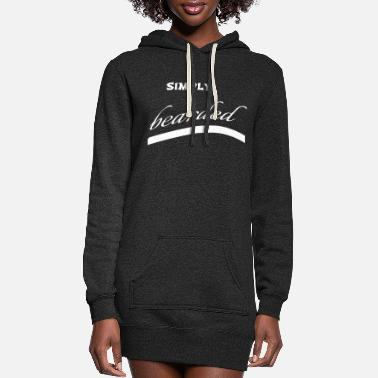 Mustache beard - simply bearded - Women's Hoodie Dress