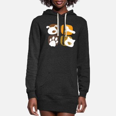 Pet Pets - Women's Hoodie Dress