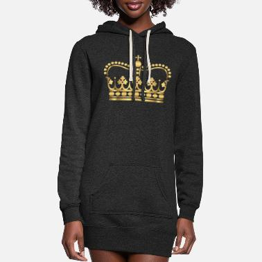 king-gold-crovn-VIP-lable-rap - Women's Hoodie Dress