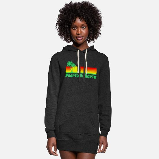 Mexico Hoodies & Sweatshirts - Puerto Vallarta - Women's Hoodie Dress heather black