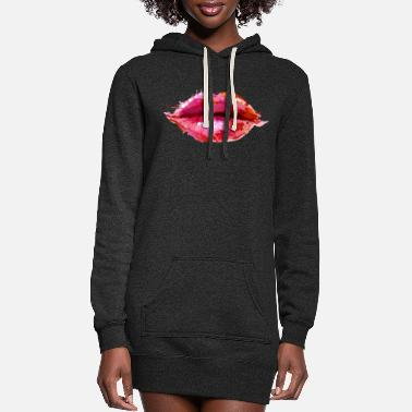 Image: Watercolor, Lips - Women's Hoodie Dress