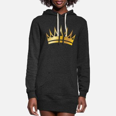 Royal golden crown vip vector image - Women's Hoodie Dress