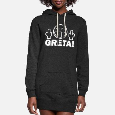 Enviromental Fuck you Greta - enviromental protection - Women's Hoodie Dress