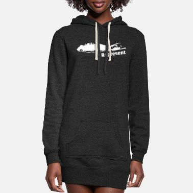 Island Long Island Represent - Women's Hoodie Dress