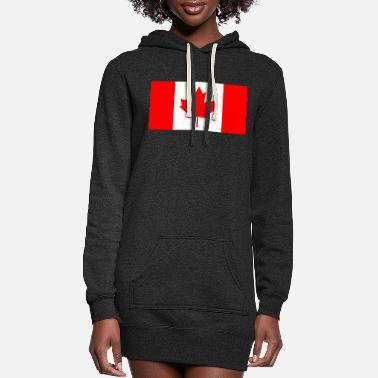 Canada Canada`s Flag - Women's Hoodie Dress