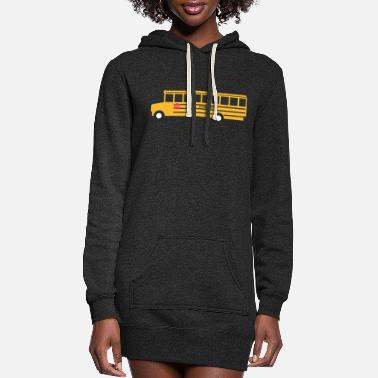 School School Bus - Women's Hoodie Dress
