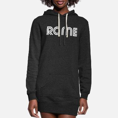 Italian typo rome 2 - Women's Hoodie Dress