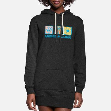Caribbean CARIBBEAN ISLANDS - Women's Hoodie Dress