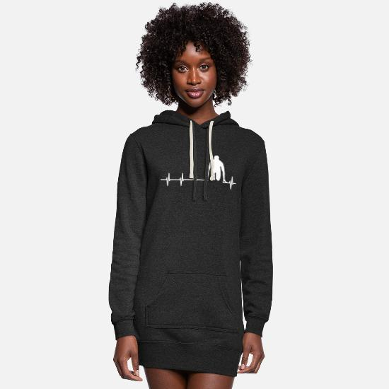 Gift Idea Hoodies & Sweatshirts - Heartbeat sprint shirt for runners - Women's Hoodie Dress heather black