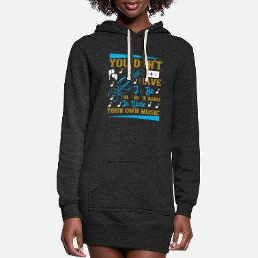 Record Music - Write Your Own Music - Women's Hoodie Dress