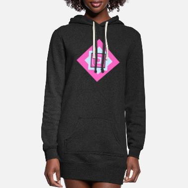 Quadrat Squares Quadrats - Women's Hoodie Dress