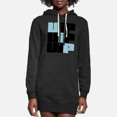 Vip design cool text letters pattern - Women's Hoodie Dress