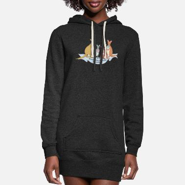 Ice Kangaroo family with ice and spell - Women's Hoodie Dress