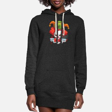 Sharp Evil Clown Face Smile Jester Cap - Women's Hoodie Dress