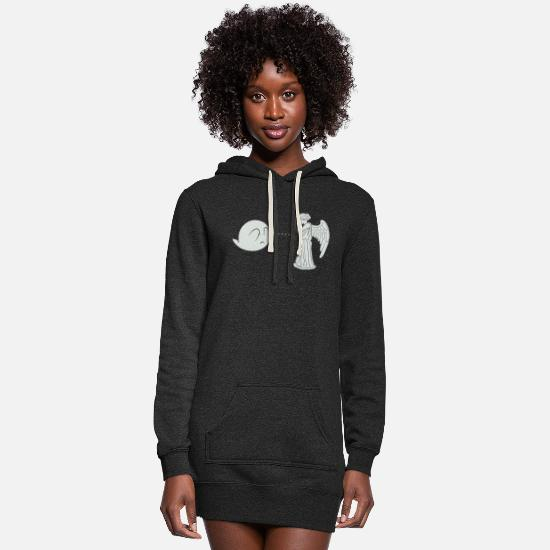 Neon Hoodies & Sweatshirts - Angel - Boo.. and Angel - Women's Hoodie Dress heather black