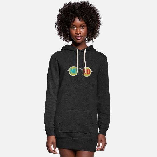 Play Hoodies & Sweatshirts - Nerd glasses - Women's Hoodie Dress heather black