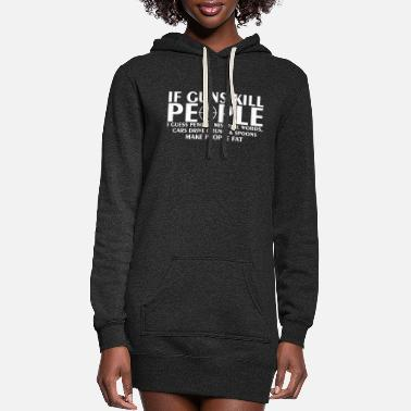 Drive If Guns Kill People Pencil Mispell Cars Drive Drun - Women's Hoodie Dress