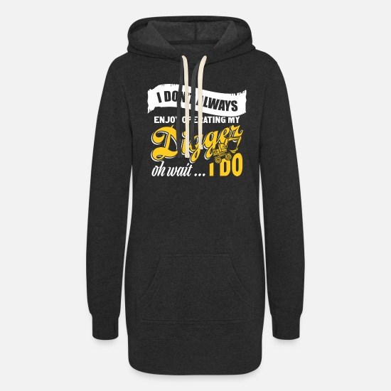 Operator Hoodies & Sweatshirts - Digger building worker - Women's Hoodie Dress heather black