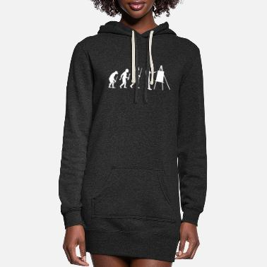 Painting Painting - Painting Evolution - Women's Hoodie Dress