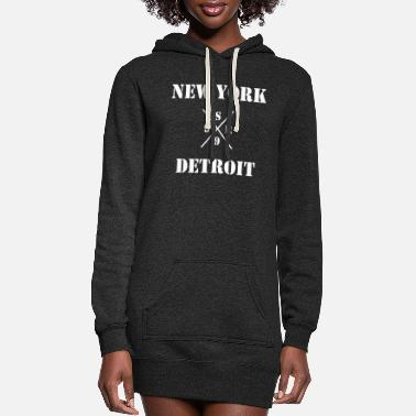 Detroit Vs Everybody shady new york vs detroit - xsr99 - Women's Hoodie Dress