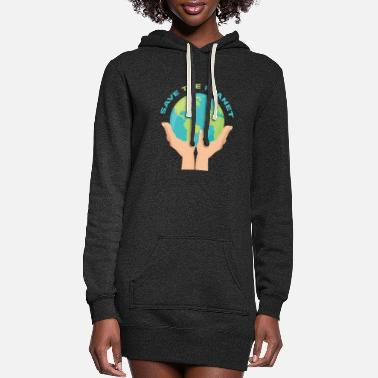 Planet Planet - Save the planet - Women's Hoodie Dress
