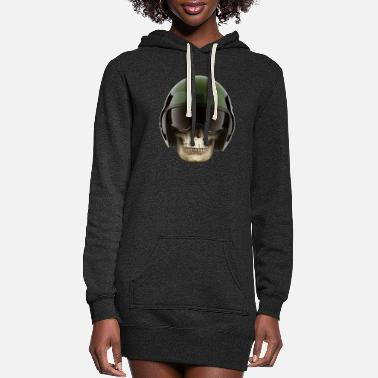 Skull Helmet - Women's Hoodie Dress