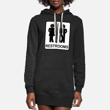 Restroom Restrooms - Women's Hoodie Dress
