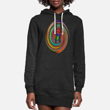 Color Colorful mix of colors - Women's Hoodie Dress