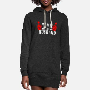 Wife Wife and Husband funny shirt - best husband - Women's Hoodie Dress