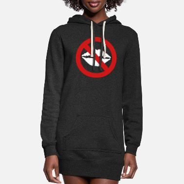 Kiss No Kiss - Women's Hoodie Dress